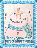 Happy Snowman Directed Drawing
