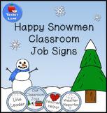 Winter Classroom Job Signs