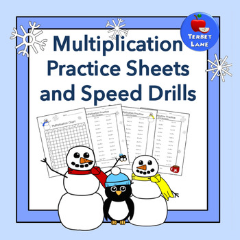 Winter Multiplication Practice Sheets and Speed Drills