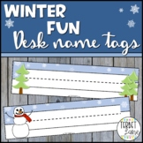 Winter  Editable Desk Name Tags