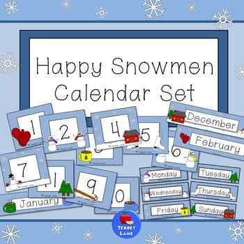 Happy Snowmen Winter Calendar Set