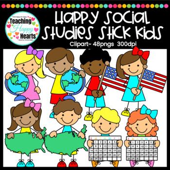 happy social studies stick kids clipart by victoria saied tpt happy social studies stick kids clipart