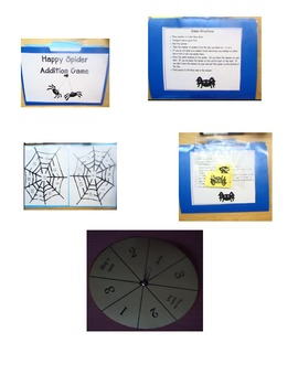 Happy Spider File Folder Addition Game