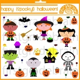 Happy Spooky Halloween Clipart Graphics for Personal and C