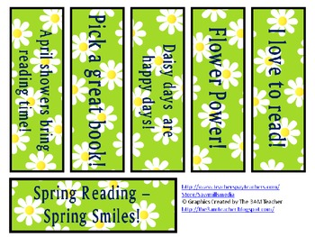 Happy Spring! 24 Bookmarks to Encourage Spring and Easter  Reading