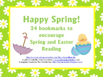 Happy Spring! 24 Bookmarks to Encourage Spring and Easter