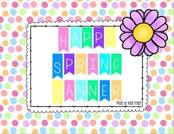 Happy Spring Banner