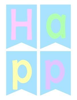 Happy Spring Banner DIY