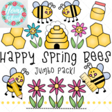 Happy Spring Bees Clip Art Jumbo Pack