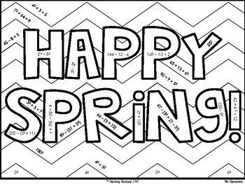 Happy Spring! Color By Number - {Differentiated Versions!} *UPDATED*