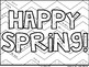 Happy Spring! Color By Number - {Differentiated Versions!}
