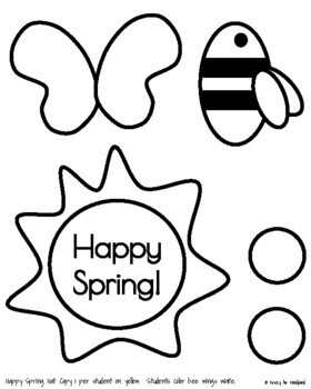 Spring Craft: Happy Spring Hat