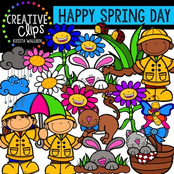 Happy Spring Day {Creative Clips Digital Clipart}