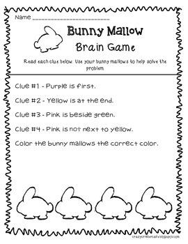 Easter Freebie! Fun with Bunny Marshmallows