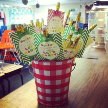 Happy Spring Pencil Toppers