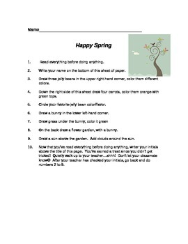 Happy Spring - follow the directions