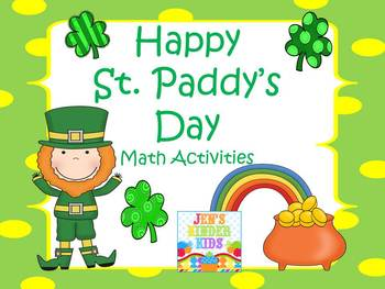 Happy St. Paddy's Day Math Activities