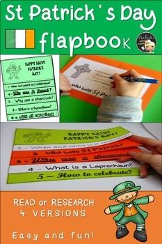 St Patrick's Day Flapbook