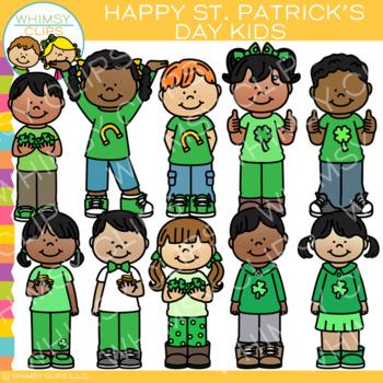 Happy St. Patrick's Day Kids Clip Art