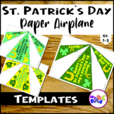 Happy St. Patrick's Day Paper Airplane Templates