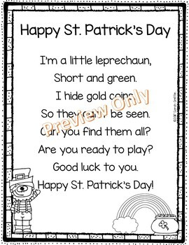 Happy St. Patrick's Day - Poem for Kids
