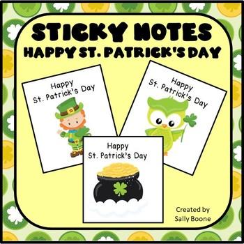 Happy St. Patrick's Day Sticky Notes
