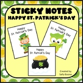 Happy St. Patrick's Day Sticky Notes