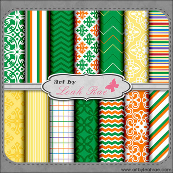 Happy St. Patrick's Day 1 - Art by Leah Rae Digital Scrap Papers / Backgrounds
