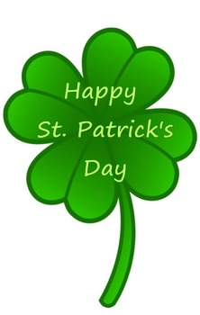 Happy St. Patrick's Day 4 Leaf Clover