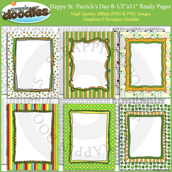 Happy St Patricks Day 8 1/2 x 11 Ready Pages