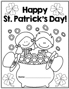 Happy St. Patrick's Day! Math and Literacy activity pages for 3rd-4th Graders