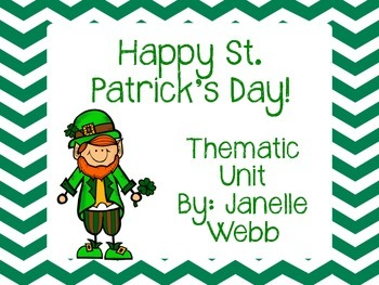 Happy St. Patrick's Day! A March Thematic Unit