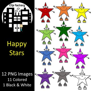 Happy Star People Clip Art
