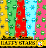 Happy Star Shape Papers