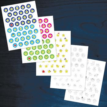 Happy Stars 1 - Clip Art Set - PNG files
