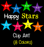 Happy Stars Clip Art