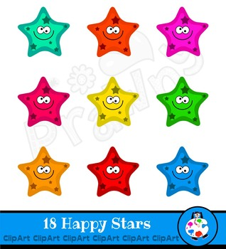 Happy Stars Clip Art Award Set