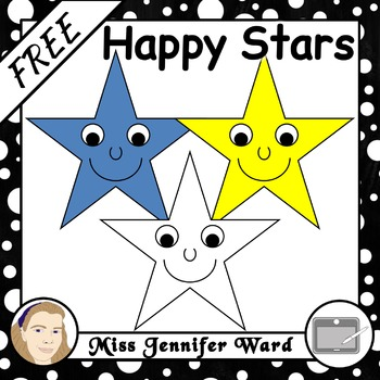 Happy Stars Clipart FREE