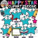 Happy Stars Clipart Freebie {Stars Clipart}