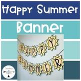 Happy Summer Banner