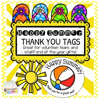 End Of Year Happy Summer Gift Tags Editable By Classroom Hoopla