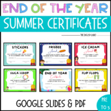 Happy Summer: End of the Year Awards-Certificates