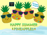 Happy Summer Pineapples [Clip Art Set]