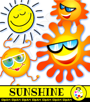 Happy Sun Clip Art Summer Weather