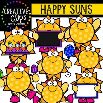 Happy Suns {Creative Clips Digital Clipart}
