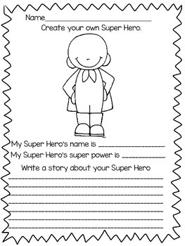 Happy Super Hero Day! {Freebie}