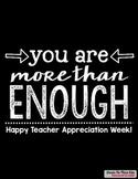Happy Teacher Appreciation Week! Poster FREEBIE