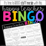 Happy Teacher BINGO - Staff Morale Booster
