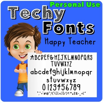 Happy Teacher Font for Personal Use
