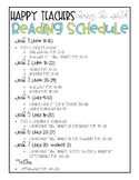 Happy Teachers Change The World Reading Schedule